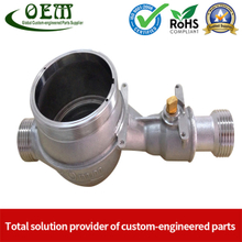 SUS-304 CNC Machining Parts - Water Meter Body Suitable Water Flow Meter