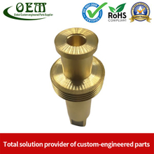 Custom Brass CNC Machining Copper Parts - Valve Cylinder Stem for Brew Cleaning Socket Set