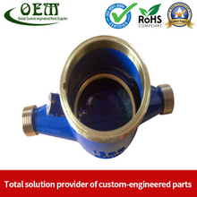 Carbon Steel CNC Machining Ultrasonic Flow Meter Body for Home Water Supplying Equipment