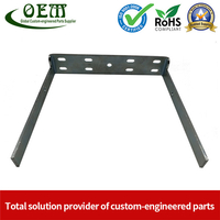 Precision Metal Stamping & Laser Cutting Sheet Metal Fabrication of U Shape Stainless Steel Brackets for The Military