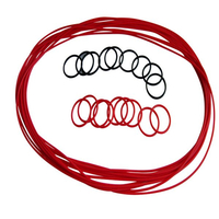 Customized Rubber Molded O-Rings with Various Size Used for Electronics Applications