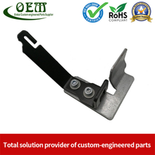 Precision Galvanized Steel Stamping Parts Heavy Gage Brackets Safety Equipments