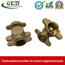 Brass Pipe Socket Brass CNC Milled Milling Parts for Gas Valve Applications