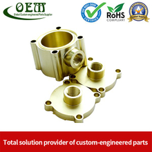 Custom Brass Machining Parts Copper Retainer Flanges Used for Fiber Optic Components