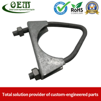 Precision Galvanized Steel Stamping Hardware Clamps Parts Used for Construction Buildings